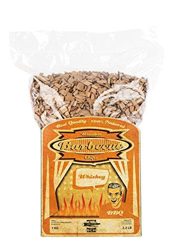Axtschlag Räucherchips Whisky, 1000 Gramm sortenreine Räucherspäne für besondere Rauch- und Geschmackserlebnisse, für alle Grills