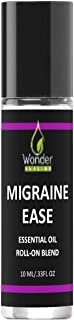 Migraine Ease Migraine Relief Essential Oil Roll On, 10ml - All Natural Lavender, Peppermint and Marjoram,Aromatherapy Oil Blend Headache Soother – Ready to Apply (10 ml)
