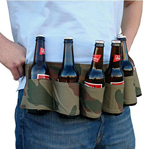 Bazaar 6 Pack Bier Soda Belt Drinks Bier Belt Houder voor Outdoor Camping Party