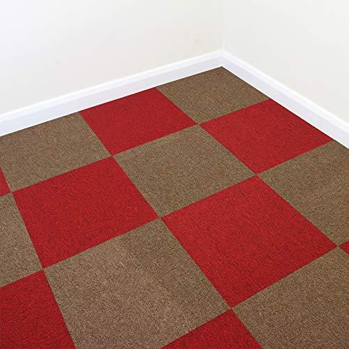 20x 20 Commerciale//per la casa Supporto in Bitume Antiscivolo e piastrella Lavabile per Pavimenti Carpet tiles Lxn Posizionare e incollare Quadrati di Moquette in Polipropilene