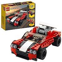LEGO 31100 Creator 3-in-1 Sportwagen-, Hot Rod-, Flieger-Bauset, Spielzeuge für Kinder ab 7 Jahren für Jungen und Mädchen