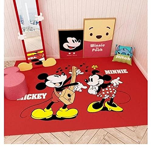 Cospnt Alfombra Mickey Minnie Mouse Y Amigos Alfombra Anime Alfombra Niños Bebé Juego De Gateo Alfombra Alfombra De Habitación Infantil 160X230 Cm
