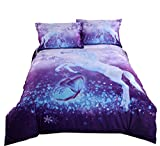 Wowelife Guitar Bedding Full 3D Duvet Cover Sets 4 Pieces 1 Duvet Cover 1 Flat Sheet and 2 Pillow Cases (Comforter Not Included) (Full-Guitar)