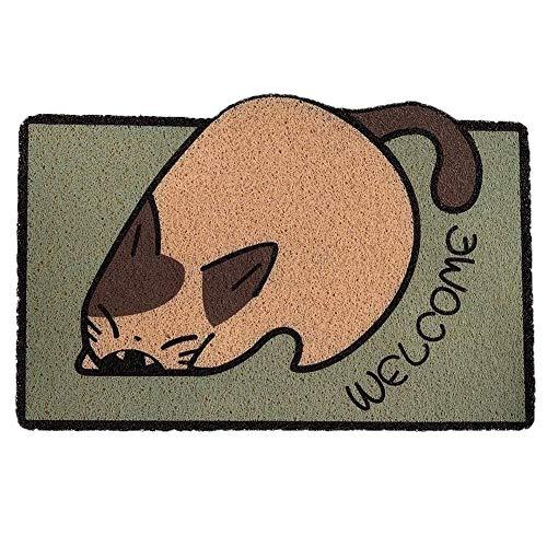 Cartoon Türmatte, rutschfeste Indoor Outdoor Teppich Eingangsbereich Begrüßungsmatten, Dirt Trapper PVC Waschbare Fußmatte Für Zu Hause, Animal Design (40x60cmx10mm)