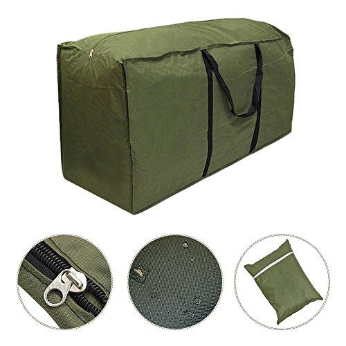 Lembeauty-Sac léger de rangement pour coussins de meubles de jardin B: 116 x 47 x 51 cm Vert