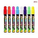 8 Farben Textmarker, Fluoreszierende Flüssige Kreide Marker Stifte Neon Stift Für LED Schreibtafel Tafel Glasmalerei Graffiti Bürobedarf