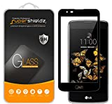 Supershieldz for LG K7 Tempered Glass Screen Protector, (Full Screen Coverage) Anti Scratch, Bubble Free (Black)