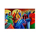 QSDFG African American Art and Painting Canvas Art Poster and Wall Art Picture Print Modern Family Bedroom Decor Posters 12x18inch(30x45cm)