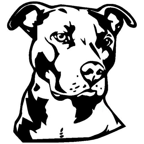 14 * 15.2CM Pit Bull Face Vinyl Decal Car Styling Animal Decoration Accessories Classic Personality Stickers C6-1740