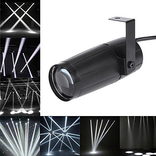 Docooler Spotlight total 5W LED Blanco Beam Pinspot Súper Lligero Lámpara Brillante Bolas de Espejo (1PC)