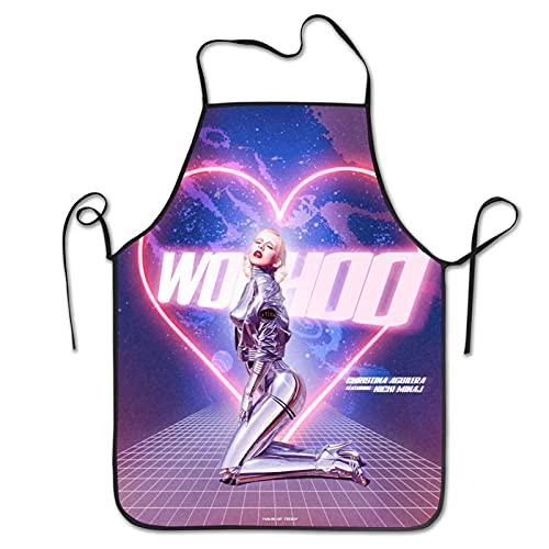 Christina Aguilera - Delantal unisex para cocina, cocina, cocina, horneado y horneado