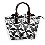 IUBBKI bolso abstracto 3D geométrico rombo de cuero genuino bolso con remaches correa de hombro con asa superior para mujer