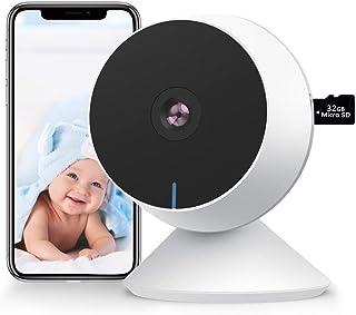 Bebe Camera de Seguridad WiFi 1080P FHD, M1 Baby Monitor con llanto y detección de movimiento, con tarjeta SD 32G, audio b...