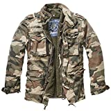 Brandit M65 Giant Military Parka Jacket US Army Combat Zip Fleece Warm Winter Khaki-camo s