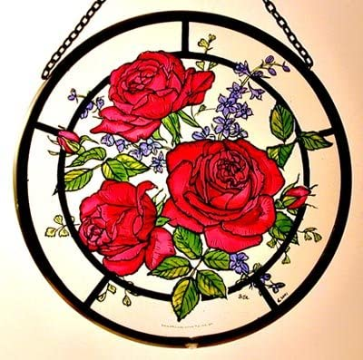Decorative Hand Painted Weekly update Stained Glass Catcher Sun Window favorite Roundel