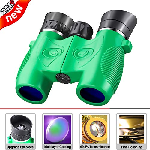 Beiko Kids Binoculars,Compact Folding High Resolution Binoculars for Toddlers with Strap Perfect for Travel Theatre and Bird Watching Even Night Vision Stargazing Boys Girls Birthday Gift (Green)