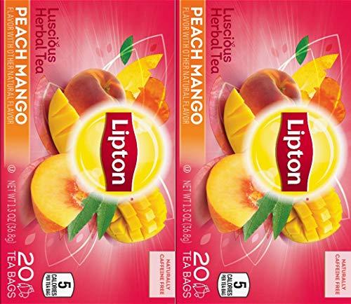 Lipton Tea Herbal Peach Mango (Pack of 2)