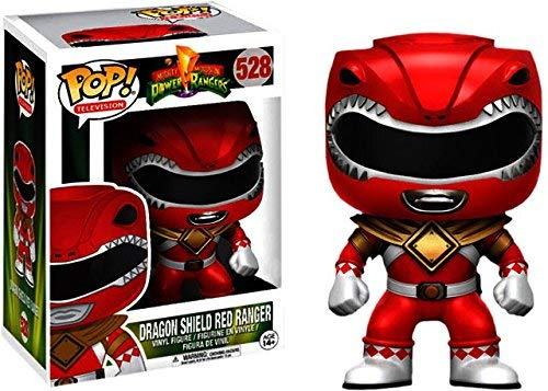 Funko Pop! Television Mighty Morphin Power Rangers Red Ranger #528 (Dragon Shield)