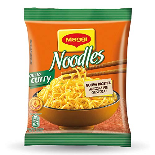 Maggi Noodles Gusto Curry Noodles Istantanei e Condimento al Gusto Curry, 10 Confezioni da 71 g, 10 Porzioni