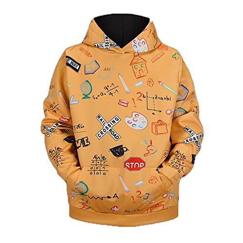 Mr.BaoLong&Miss.GO Otoño E Invierno Suéter De Moda para Hombres Chaqueta Navideña Suéter Estampado para Hombres Suéter con Capucha Camiseta De Manga Larga para Hombres