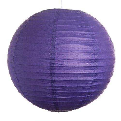 Hometown Evolution, Inc. Round Party Wedding Lanterns (12 Inch, Purple Even Ribbed Paper Lanterns)