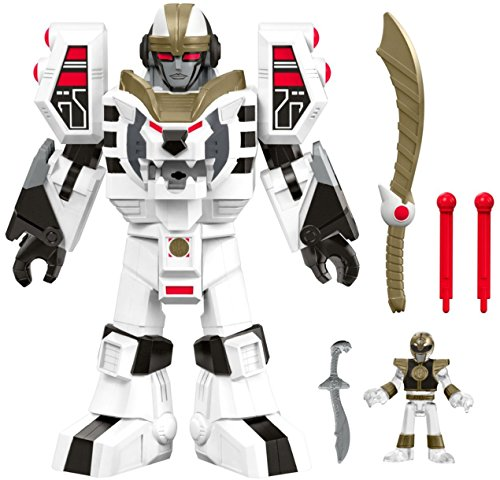 Fisher-Price Imaginext Power Rangers White Ranger & Warrior Mode Tigerzord