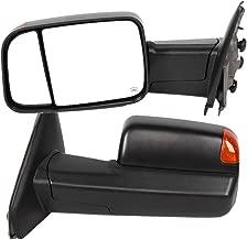 2Pcs Auto Exterior Mirrors Power Heated LED Turn Signal Rearview Auto Exterior Mirrors Fit for Dodge Ram 1500/2500/3500 2002 2003 2004 2005 2006 2007 - CH1320228 CH1321228