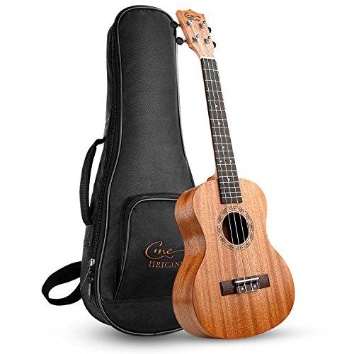 Hricane Tenor Ukulele UKM-3 26 Zoll Traditionelle Mahagoni Ukulele Hawaiische Gitarre mit Groß...