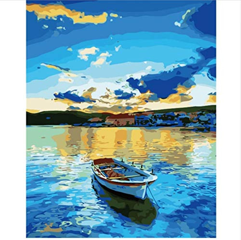 CZYYOU DIY Digital Malen Nach Zahlen Das Meer Stiefel Ölgemälde Wandbild Kits Färbung Wandkunst Bild Geschenk - Mit Rahmen - 40x50cm B07PPWGWMS | Verschiedene Stile und Stile