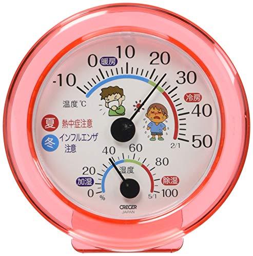 クレセル アナログ温湿度計 アナログ計 健康管理温度計・湿度計 ピンク TR-103-P
