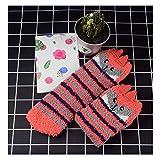 FOSTUDORK Calcetines gruesos de invierno de las mujeres 1 pair 3D Diseño mullido coral de terciopelo grueso borroso caliente calcetines del piso Inicio Invierno