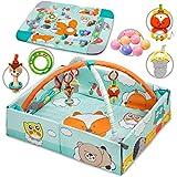 KIDWELL JATI Multifunktional Spieldecke mit Spielbogen 3in1 | 120 x 106 cm | Laufgitter & Spielmatte & Bällebad | Baby Krabbeldecke für Spiel & Spaß | ab Geburt