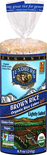 Lundberg Gluten-Free Brown Rice Organic Rice Cakes Lightly Salted -- 8.5 oz