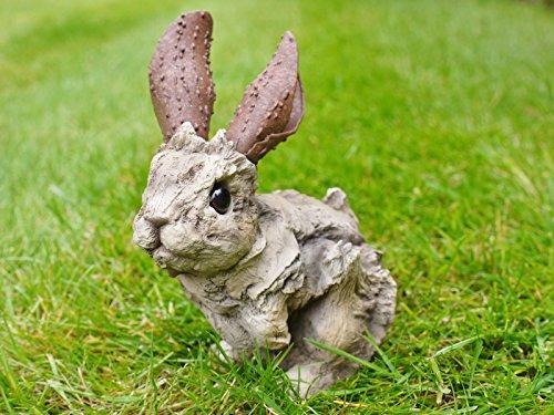 Neuf mignon Effet bois Jardin Animal Ornement Statue Sculpture de lièvre Lapin