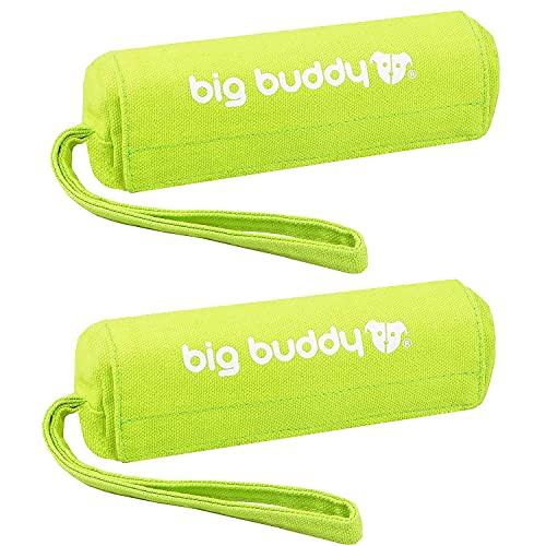 big buddy Canvas Futterdummy, Futterbeutel für Hunde, Apportierdummy zur Hundeerziehung (2X, Grün)