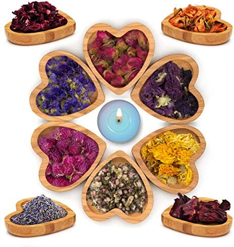 Dried Flowers Set of 10 Varieties with Organic Fresh Scent Dry Petals for Soap Candle Lip Gloss product image