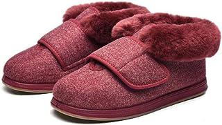 B/H Chaussures de Marche extérieures,Chaussures Pieds gonflés réglables,Chaussons en Coton pour Pied diabétique,Chaussons ...