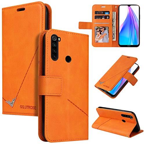 Snow Color Xiaomi Redmi Note 8T Hülle, Premium Leder Tasche Flip Wallet Case [Standfunktion] [Kartenfächern] PU-Leder Schutzhülle Brieftasche Handyhülle für Xiaomi Redmi Note8T - COYKB060560 Orange