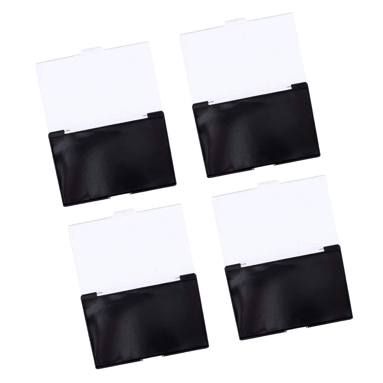 ジョブ振る保存するB Blesiya 4個 アイシャドウ収納ケース 磁気コンテナ 透明カバー コスメ 約15x10x1 cm 手作り化粧品