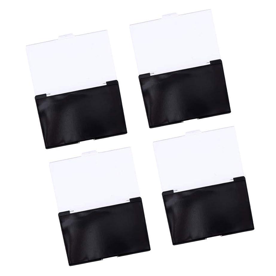 調整可能トラップ系統的B Blesiya 4個 アイシャドウ収納ケース 磁気コンテナ 透明カバー コスメ 約15x10x1 cm 手作り化粧品