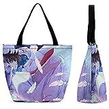 Detective Conan - Bolsa de compras portátil de gran capacidad, casual y versátil, tendencia a la moda, bolsa de viaje con un solo hombro, protección del medio ambiente