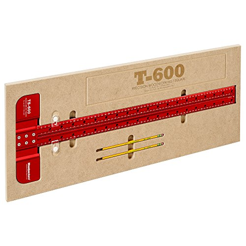 Woodpeckers Precision Woodworking Tools TS-600MM T-Square, 600mm