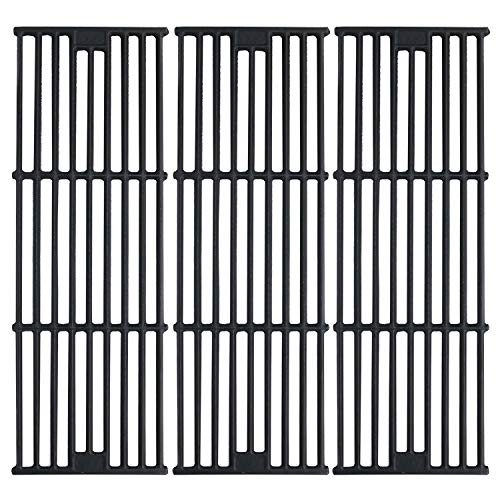 """Hisencn Porcelain Coated Cast Iron Cooking Grates Replacement for Chargriller 2121, 2123, 2222, 2828, 3001, 3030, 3725, 4000, 5050, 5252 , Set of 3, 19 3/4"""" Char griller Duo 5050 Grids"""
