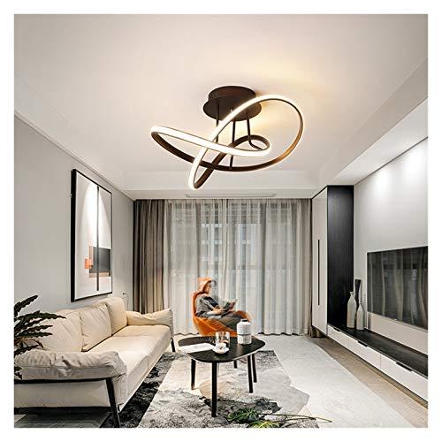 RXZUIWEI Iluminación de Techo Moderno LED iluminación de la lámpara de la Sala Comedor Dormitorio Lámparas de Techo de Aluminio Creativo Iluminación for el hogar Brown Negro 220V Interior