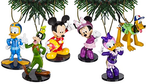 Characteristix Disney Junior's Mickey and The Roadster Racers Ornament Set of 6