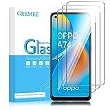 GEEMEE Protector de Pantalla para OPPO A74 4G/OPPO A94 5G (6,43'), Cristal Templado Película Vidrio Templado 9H Alta Definicion Glass Screen Protector Film (Transparente)-3 Pack