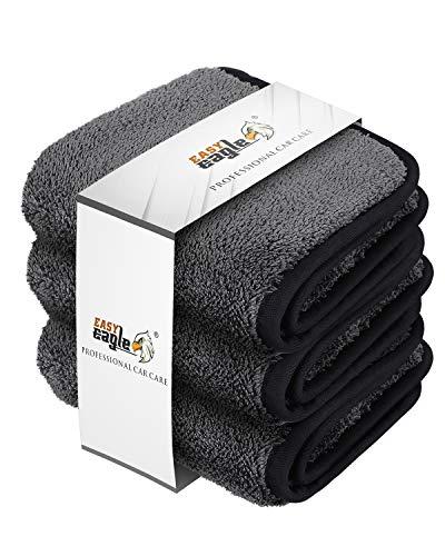 EASY EAGLE microvezel auto drogen handdoek 30x30CM, 1200GSM Ultra-dikke microvezel reinigingsdoeken, Pack van 3