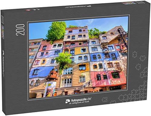 Puzzle 200 Teile Hundertwasser-Haus in Wien, Österreich - Klassische Puzzle, 1000/200/2000 Teile, in edler Motiv-Schachtel, Fotopuzzle-Kollektion 'Österreich'