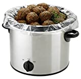 PanSaver 100 Count EZ Clean Slow Cooker Liners and Cooking Bags Perfect For Cholent, Stews, Fish and Soups 3 to 6 Quart or 9x13 inch Oven Trays
