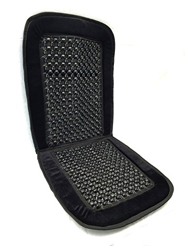 Unique Imports Royal Premium Bamboo Wooden Beaded Seat Cover Massage Cool Comfort Cushion - for Office, Truck and Car Seats (Pack of One, Black)
